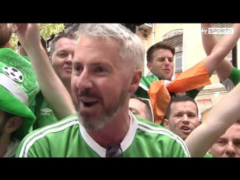 Sky Sports News -  Republic of Ireland fans in good voice ahead of French test (26/6/16) (1080p)