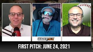 MLB Picks and Predictions   Free Baseball Betting Tips   WagerTalk's First Pitch for June 24