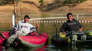 SCBBBC, Sonoma County Belly Boat Bass Club,  Red Eye, Lake Sonoma tournaments, 35 anglers.