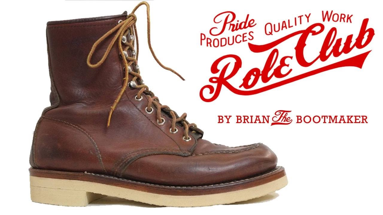 red wing moc toe boots resole 31 youtube
