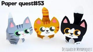 Поделка из втулки Котенок | Поделки для детей | Kitten Craft from toilet roll