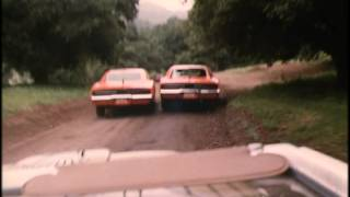 "Dukes of Hazzard: General Lee battle and car flip from ""Double Dukes"""