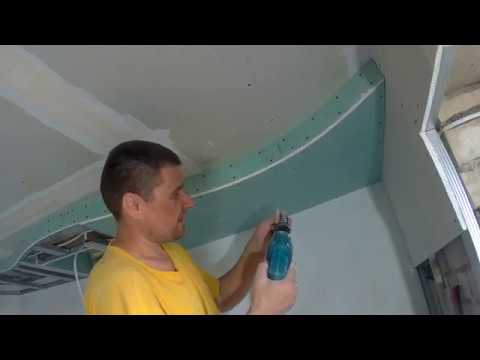How to make the ceiling in the kitchen a wave! Secrets of installation