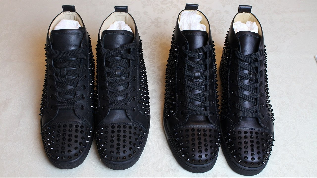bdddd59edc99 Real vs Fake Guide  Christian Louboutin Louis Flat Calf Spikes ...