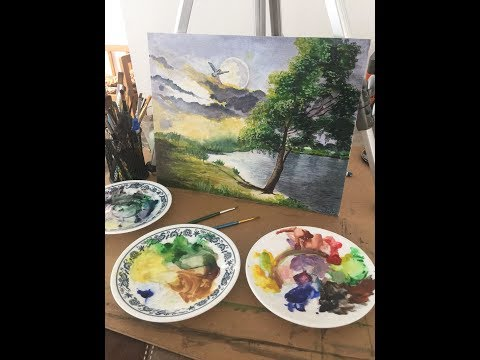 Beautiful Watercolor Painting Idea – Relaxing & Free Anxiety