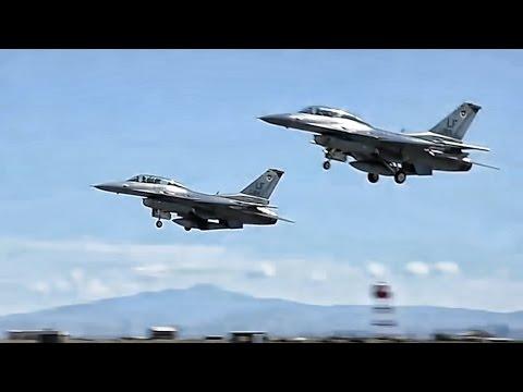 F-16 Pilots In Training Takeoff At Holloman AFB