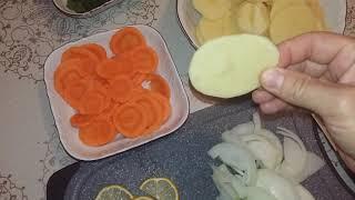 Судак с овощами, запеченый в духовке. Полезно и вкусно