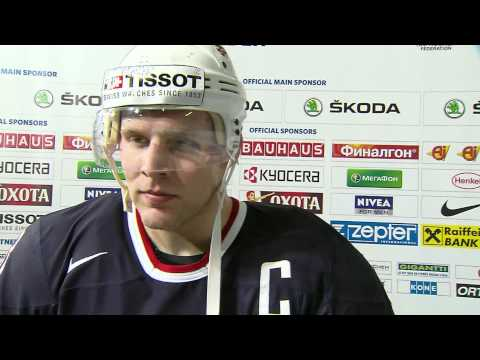 Jack Johnson Discusses USA's Win Over Canada - 2012 IIHF Ice Hockey World Championship