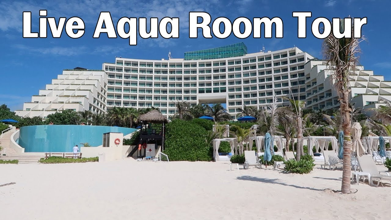 live aqua cancun room tour 2017 youtube