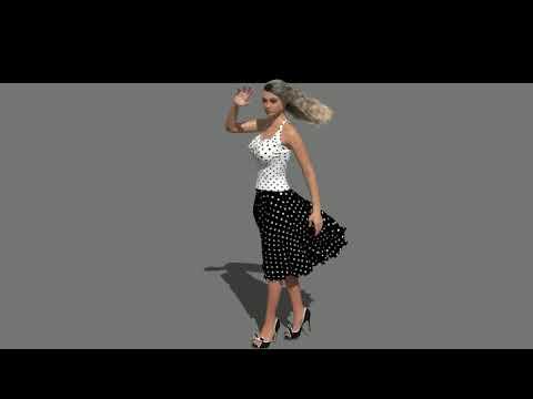 Windy Dress Girl Carrara Hair VWD Skirt