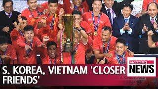 Pres. Moon congratulates Vietnam on football win under S. Korean coach