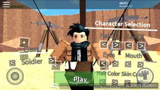 The first time I play in Roblox in hp (I do not sense how I can gas and attack titan