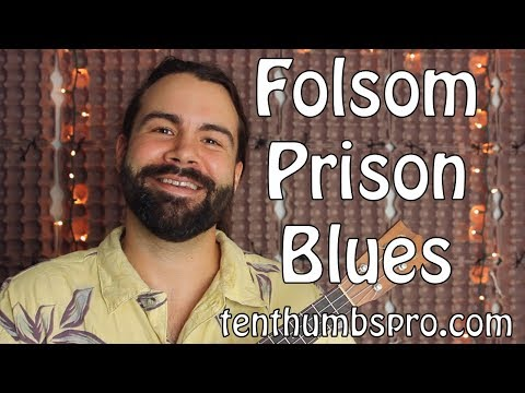 Johnny Cash - Folsom Prison Blues - Ukulele Tutorial with tabs, riff and solo