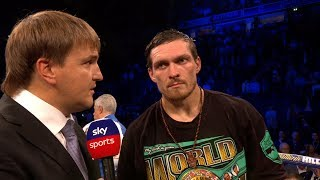 POST FIGHT: Oleksandr Usyk expected Tony Bellew gameplan & talks potential move to heavyweight