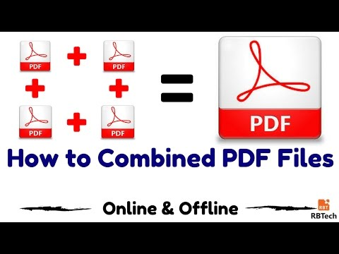 How To Combine PDF Files Into One PDF File . (Online & Offline Easily )