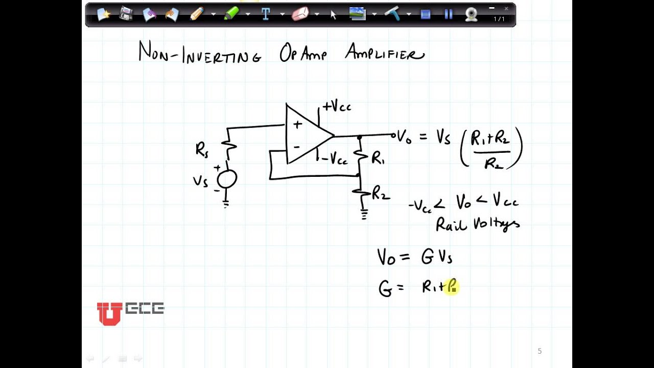 Op Amp How Does This Opamp Noninverting Amplifier Work Youtube