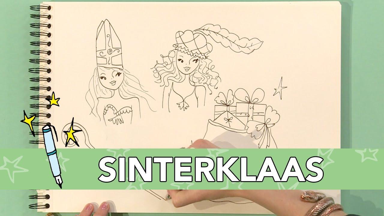 Jill Diy Sinterklaas Meisjes Tekenen Youtube