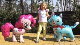 पार्क में गुड़िया के साथ खेलता डायना Fun Story with baby doll