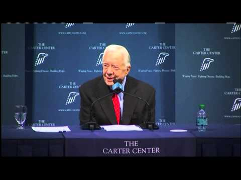 Former President Jimmy Carter addresses cancer and treatment