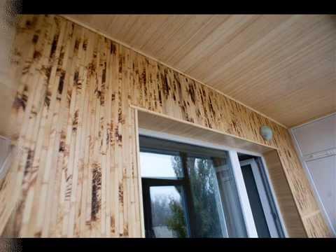 Отделка балкона бамбуковым полотном. утепление. минск. - вид.