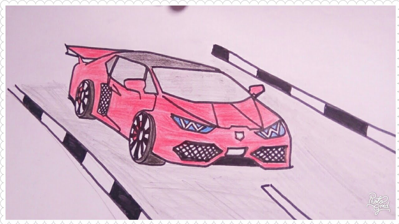 Cara Mudah Menggambar Mobil Lamborghini Tutorial Indonesia Youtube