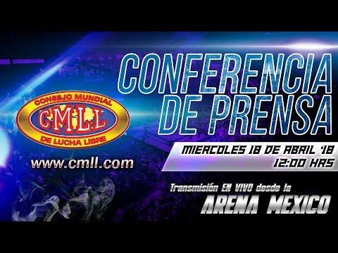 CMLL CONFERENCIA 62 ANIVERSARIO DE LA ARENA MEXICO