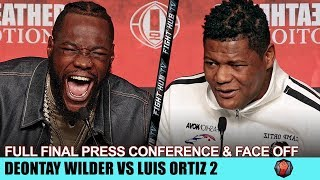 THE FULL DEONTAY WILDER VS LUIS ORTIZ 2 FINAL PRESS CONFERENCE AND FACE OFFS