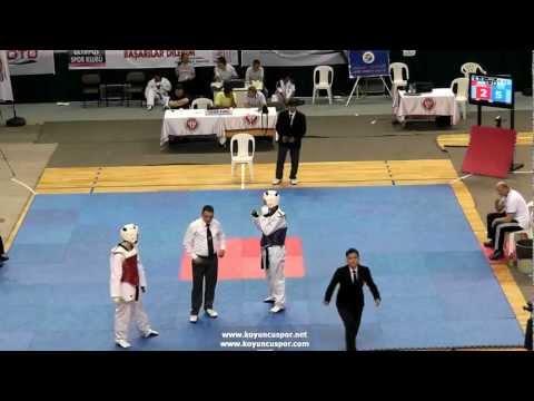 80kg Muhammed S. Vurucuoglu - Malkocoglu Ozdemir (2012 Turkish Taekwondo Championships Under -21)