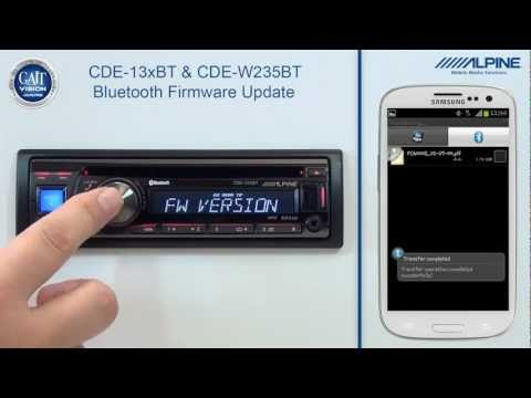 Alpine CDE-13xBT & CDE-W235BT Firmware Update via Bluetooth with Android Smart Phones