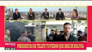 PERIODISTAS DE TELEFE TUVIERON QUE IRSE DE BOLIVIA - El Noti de la Gente