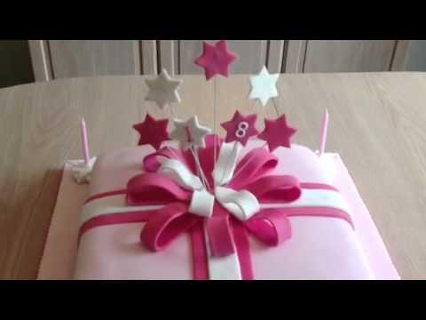 Gift box cake youtube gift box cake negle Images