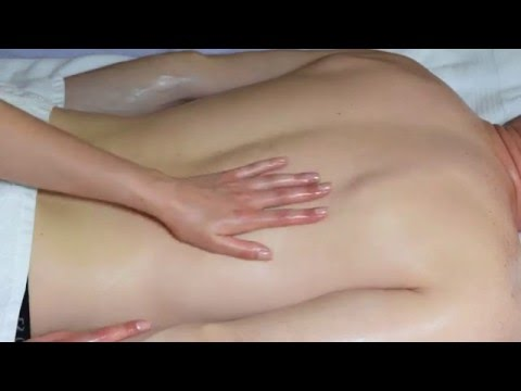 BACK  MASSAGE ASMR. OIL AND TERRY TOWEL SOUNDS. МАССАЖ СПИНЫ АСМР. ЗВУКИ МАСЛА И ПОЛОТЕНЦА