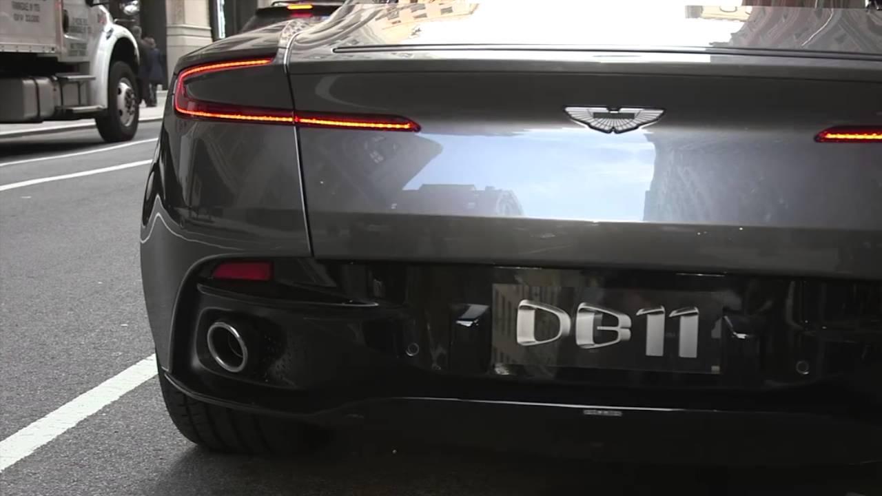 2017 Aston Martin Db11 Sound Of Exhaust Vroom Youtube