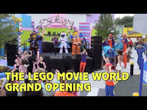 The Lego Movie World Grand Opening Celebration at Legoland Florida