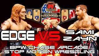 Edge VS Sami Zayn BPW Chase Arcade Stop Motion Wrestling