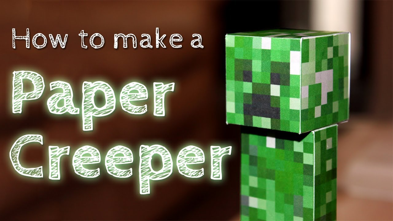 Papercraft How to Make a Paper Creeper