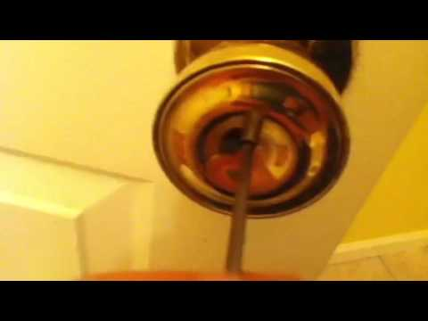 How to open a door with a screwdriver