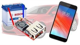 Понижающий DC-DC преобразователь 6-24В до 5В 3А USB автомобильная зарядка для телефона: тест