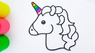 Unicorn Emoji Coloring and Drawing for Kids - Medea Art