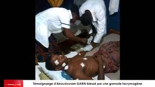 Témoignage d'Aboudouram GARIM, élève en classe de T.D jeune victime de SokodéIM victime