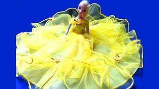 Búp Bê Công Chúa Disney Mặc Váy Cưới (Bí Đỏ) Queen Elsa Anna Ariel With Beautiful  Long Gowns
