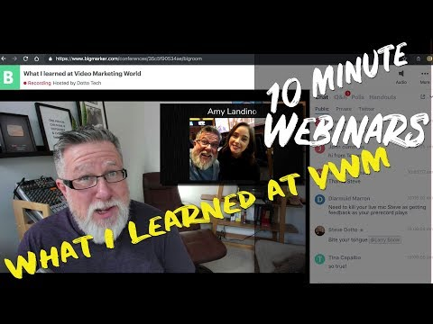 What I Learned at Video Marketing World - Webinar Recap