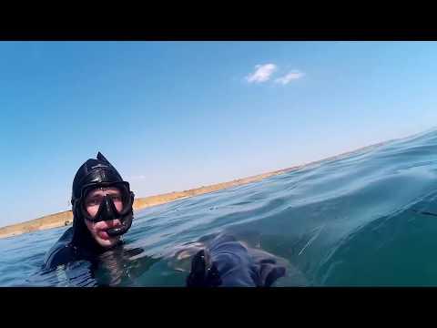 Подводная охота. Ход лобана. 13.07.2017. Тамань