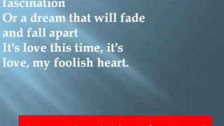 Rod Stewart - My Foolish Heart Lyrics