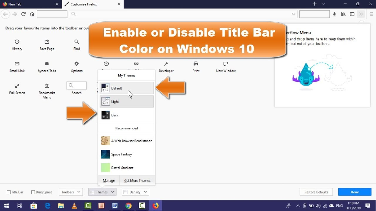How to Enable Disable Title bar Color on Firefox Browser in Windows