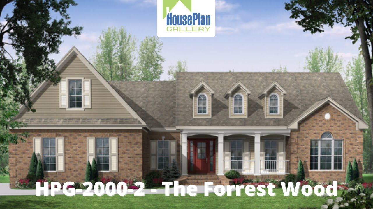 Hpg 20002 1 2 000 Sf 3 Bed 2 Bath Traditional House Plan By