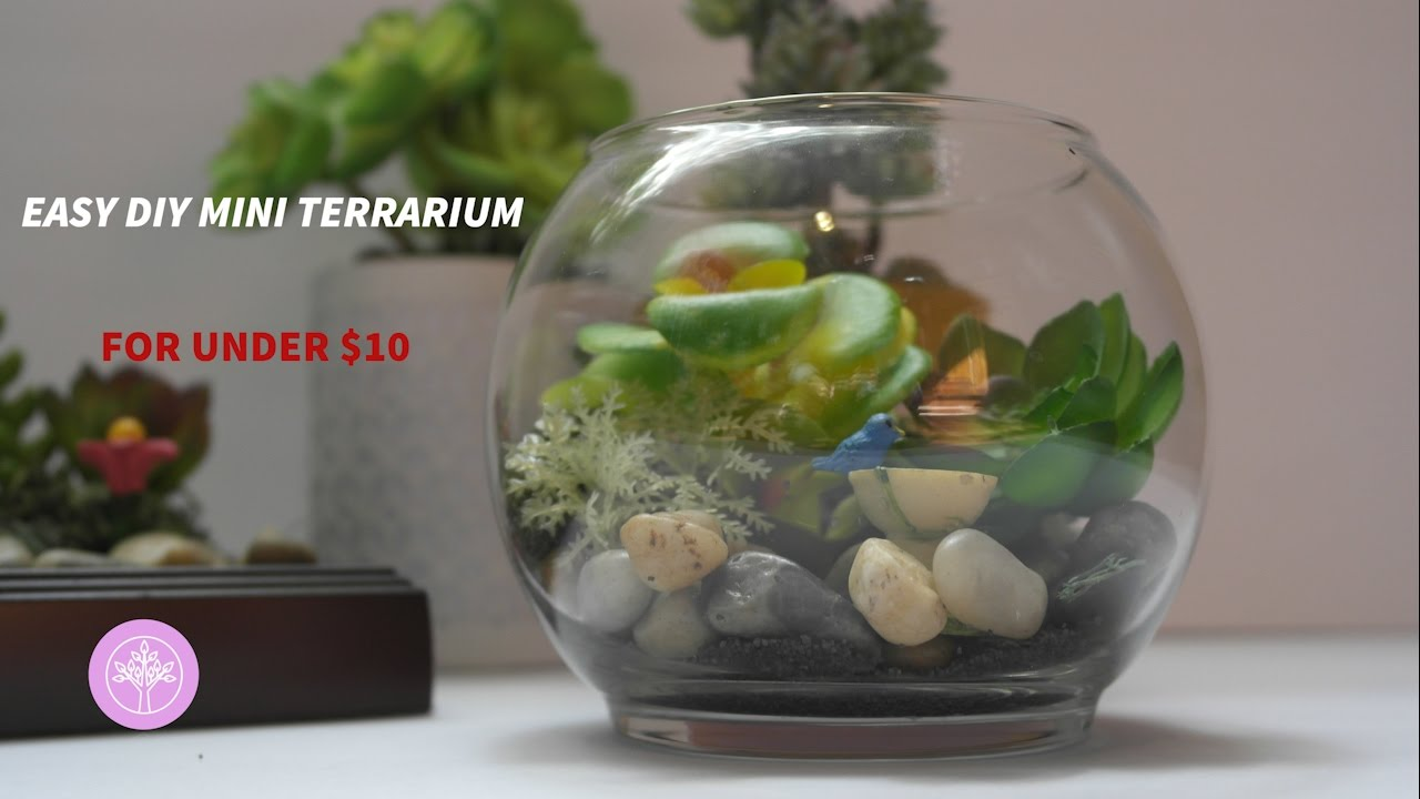 Diy Mini Faux Terrarium For Under 10 Youtube