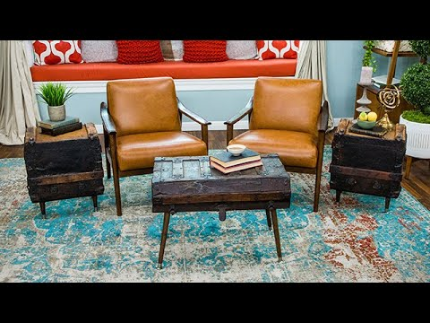 DIY Vintage Trunk Side Tables - Home & Family