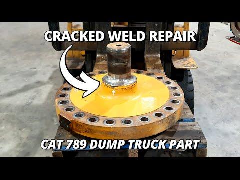 Repair a Cracked Caterpillar 789 Dump Truck Suspension Part   Machining & Welding