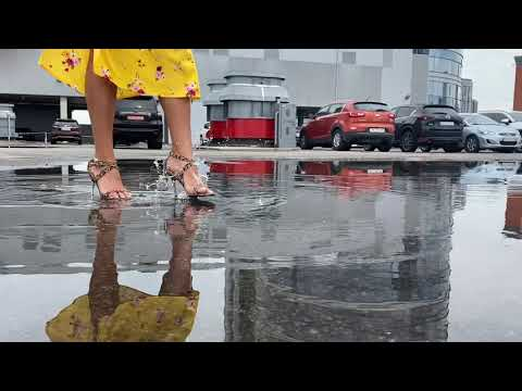 Wetlook imp model Anny❤️ONLY SHOES get wet in the video👠 !!